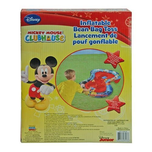 Inflatable Bean Bag Toss - Disney - Mickey Mouse Game in Color Box (Outdoor/Indoor Toys)