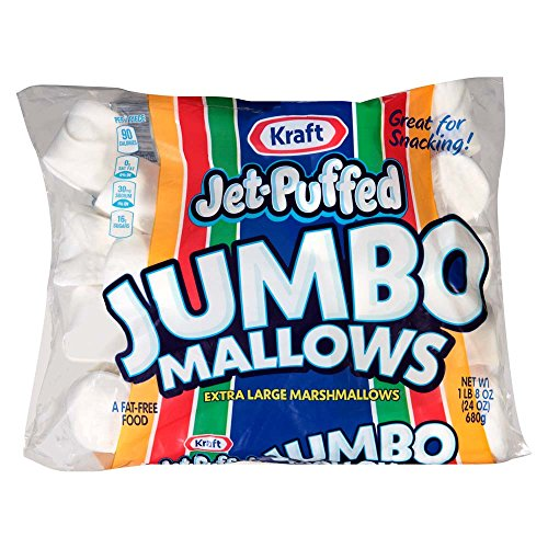 Jet Puffed Marshmallow (Jet-Puffed Jumbo Marshmallows, 24 Ounce Bag (Pack of 8))