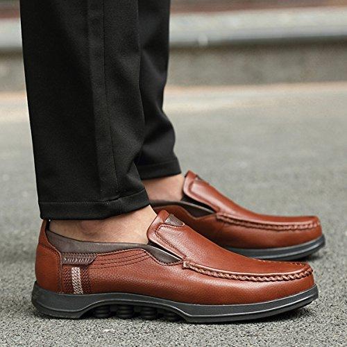 Gracosy Chaussures de Ville pour Hommes, Mocassins en Cuir Microfibre Loafter Slip on A enfiler pour Travail Mariage - Noir Marron Gris (TAILLE PETITE GRILLE DE TAILLE A VOIR)
