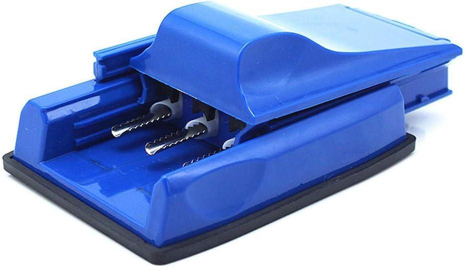 Extractor de cigarrillos manual Fabricante de cigarrillos de plástico de tres tubos-Azul