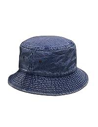 Newhattan Short Brim Visor Cotton Bucket Sun Hat