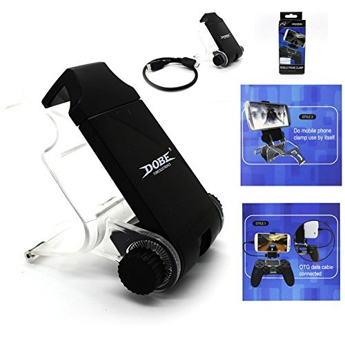 Mobile-Phone-Clamp-holder-for-Sony-Playstation-4-PS4-wireless-Controller