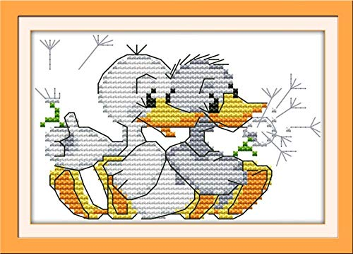 CaptainCrafts Hots Cross Stitch Kits Patterns Embroidery Kit - Two Little Ducks - Stitch Cross Pattern House