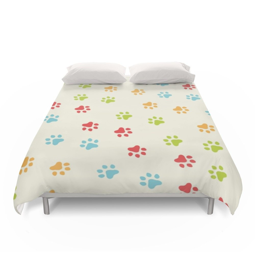 Society6 Animal Paw Prints Duvet Covers Full: 79'' x 79''
