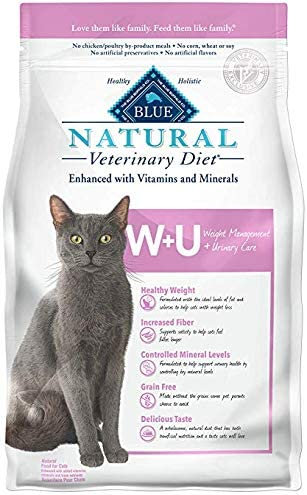Blue Buffalo Natural Veterinary Diet Weight Management Urinary Care for Cats 16Lbs
