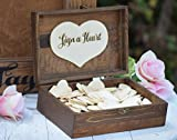 Heart Holder for Guest Book - Heart Drop Guest Book Alternative Box - Heart Box - Wedding Box - Wedding Card Holder - Rustic Weddings