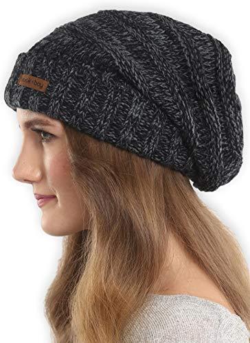 96926e1b6f8 Brook + Bay Slouchy Cable Knit Cuff Beanie - Stay Warm   Stylish - Chunky