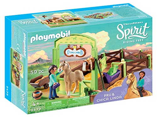 PLAYMOBIL® Spirit Riding Free PRU & Chica Linda with Horse Stall, Multicolor