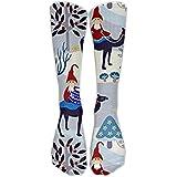 Christmas Gnomes Design Challenge Knee High Graduated Compression Socks For Women And Men - Best Medical, Nursing, Travel & Flight Socks - Running & Fitness