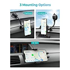 Mpow Wireless Car Charger, 10W/7.5W Qi Fast Charging Car Phone Holder for Air Vent and Dashboard, Auto-clamping Car… Amazon choices