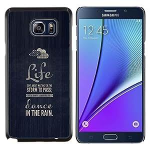 YiPhone /// Prima de resorte delgada de la cubierta del caso de Shell Armor - la vida de baile azul de motivación nube de lluvia - Samsung Galaxy Note 5 5th N9200