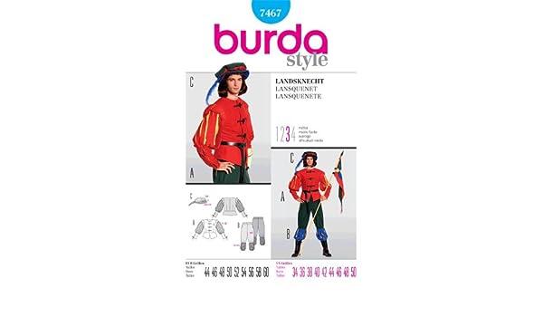 Amazon com: BURDA 7467 Middle Age Guard ~ Renaissance