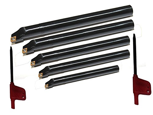 Sclcr 8, 10, 12, 16, 20 Indexable Boring Bar Set 5 Pcs with Ccmt High Precision Inserts Safedeals365