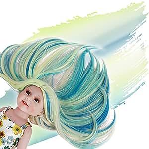Amazon.com: Peluca de muñeca STFANTASY para muñeca de 18.0 ...