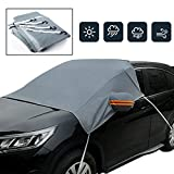 Sun Shade Waterproof Windproof Dustproof Outdoor Windshield Snow Cover Car Covers with Hooks Universal for Cars, SUVs