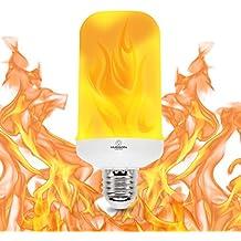 LED Flame Effect Light Bulb - Hudson Lighting - 3W - 200 lumen - Flame Light Bulbs - Fire Light Bulb- Flickr LED Flaming Bulb -2 Year Warranty