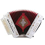 Rossetti 3112 FBbEb FA 31 Treble 12 Bass Button Accordion (White)