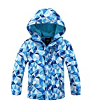#2: Hiheart Girls Boys Waterproof Fleece Lining Jacket Hood Windproof Rain Coat