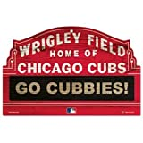 """Wincraft MLB Chicago Cubs 69578091 Wood Sign, 11"""" x 17"""", Black"""