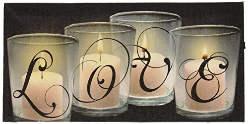 Ohio Wholesale 38552  Love by Candle Light Radiance Lighted Canvas Wall Art (Home Lighted Wall Art)