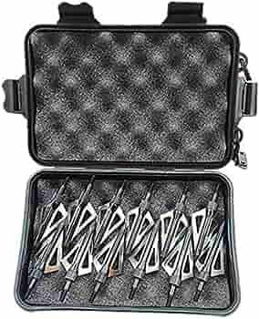 12 Pcs Broadheads 125 Grain Arrowheads Archery 3 Blade Hunting Silver Sharp Tip