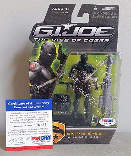 Ray Park signed autograph auto G.I. Joe Snake Eyes Figurine PSA (Autograph Envelope Signed)