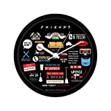 MC SID RAZZ Friends TV Series Infographic Wall Clock | Rakhi Gift Friends Collectible Wall Clock for Birthday Gifts | Officially Licensed by Warner Bros, USA