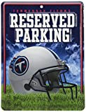 Rico NFL Tennessee Titans 8-Inch by 11-Inch Metal Parking Sign Décor
