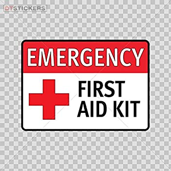 "Amazon.com: Emergency First Aid Kit 4""x5"" Safety Sign ..."