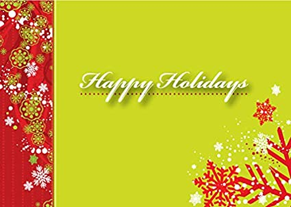 Amazon holiday greeting cards h1209 greeting cards with holiday greeting cards h1209 greeting cards with happy holidays and snowflakes on the front m4hsunfo