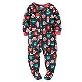 Carters Baby Girls Fleece Pajamas (3T, Hot Cocoa Print)
