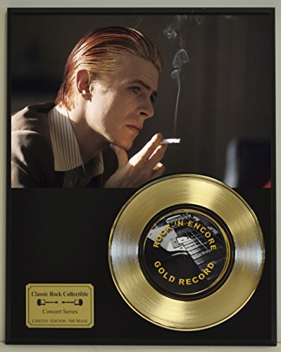 DAVID BOWIE Limited Edition Gold 45 Record Display. Only 500