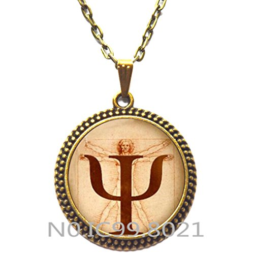 Fashion Necklace Fashion Pendant,PSI Symbol Necklace, Psychology Pendant, Jewelry,Gift for Psychologist,,Photo, Anatomy Picture Pendant Choker Necklace,Q0252