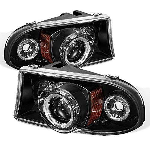 ACANII - For 1997-2004 Dodge Dakota 98-03 Durango LED Halo Black Projector Headlights w/Corner, Driver & Passenger -