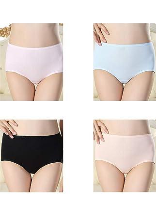 YQJDTDRopa Interior Ropa Interior de algodón para Mujeres Cintura Media y Calzoncillos Bragas Atractivas Ropa Interior