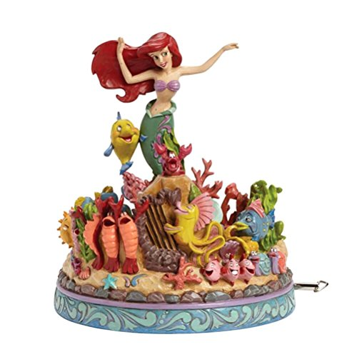 Jim Shore Disney Traditions Little Mermaid Musical Figurine, 8