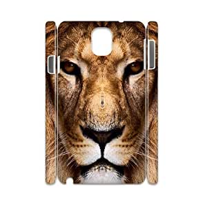 case Of Lion 3D Bumper Plastic customized case For samsung galaxy note 3 N9000