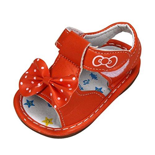 pour 0-3 ans Bébé, Amlaiworld Bowknot sandales Chaussures semelle souple (16/2-3 ans, Rouge)