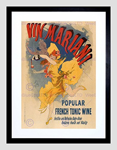Framed Vintage Picture (ADVERT MARIANI WINE FRENCH TONIC PARIS FRANCE VINTAGE FRAMED ART PRINT B12X2760)