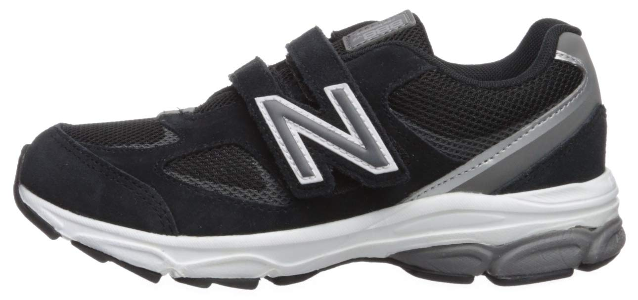 New Balance Boys' 888v2 Hook and Loop Running Shoe, Black/Grey, 2 XW US Infant by New Balance (Image #5)