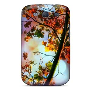 Tpu Case Cover For Galaxy S3 Strong Protect Case - Magical Leaves Fall Design