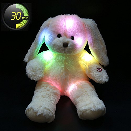 Wewill Floppy Long Eared Easter Stuffed Bunny Rabbit with LED Light Night, Mother's Day Gift, (Stuffed Easter Rabbits)