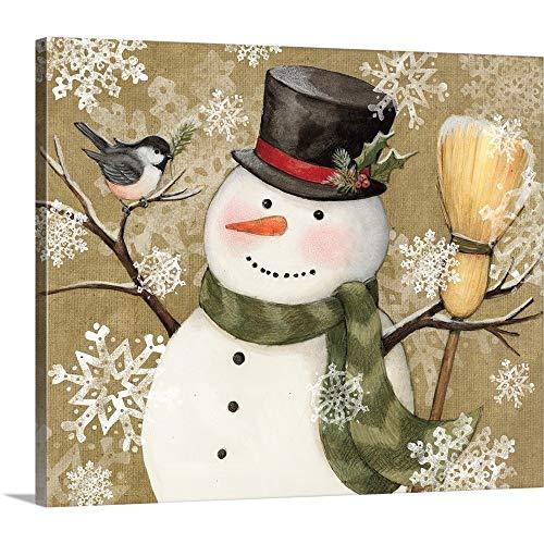 Susan Winget Premium Thick-Wrap Canvas Wall Art Print Entitled Woodland Snowman 24