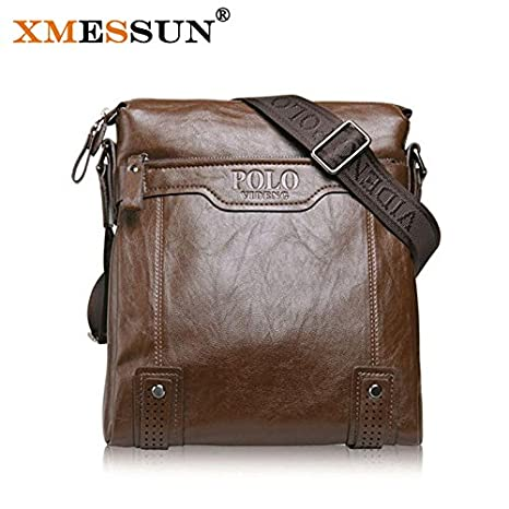 Buy Genric Dark brown   2016 Sell Famous Brand Design PU Leather Men Bag  Casual Business Leather Men Messenger Bags Vintage Fashion Mens Cross Body  Bag ... 0b1175d383179
