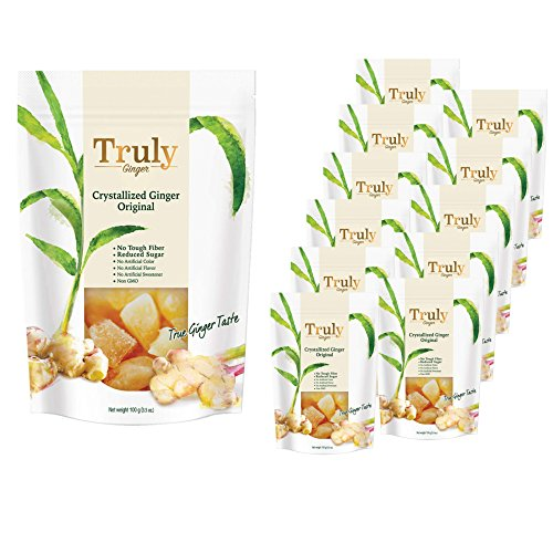- Truly Crystallized Ginger (3.5oz x 12 Packs)