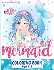 Mermaid Coloring Book Ages 4-8: Great Coloring & Activity Book for Kids with Cute Mermaids / 40 Unique Coloring Pages / Pretty Mermaids children's coloring Book Boys & Girls for Ages 4-8/ The little Mermaids with Their Sea Creature Friends /Perfect Gift