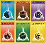 Pokemon Card - Energy Set Of 6 - Water, Fighting, Psychic, Fire, Grass, and Lightning - Gym Challenge - 1st Edition