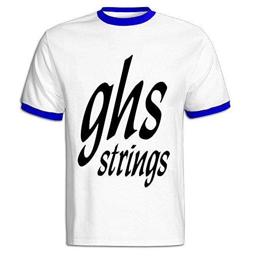 Youqian GHS Strings Logo Men's T-Shirt Small RoyalBlue Mens
