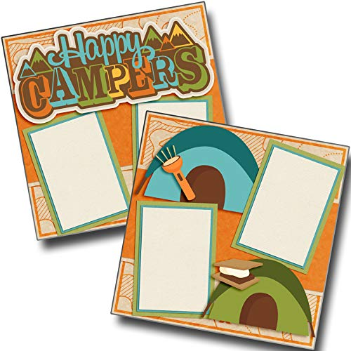 (Happy Campers - Premade Scrapbook Pages - EZ Layout 4054)