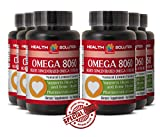 Fish oil supplement organic - OMEGA 8060 OMEGA-3 FATTY ACIDS - support concentration (6 Bottles)